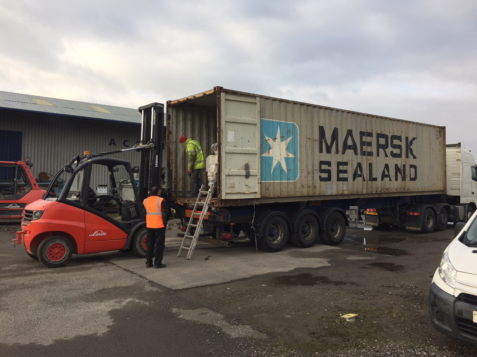 Arrival of new machinery